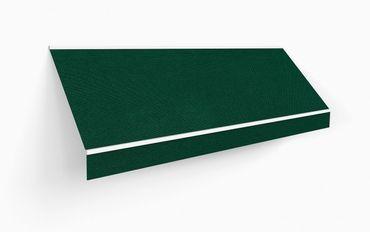 450 x 350 Kassettenmarkise Markise grün UNI mit Funkmotor Gestell anthrazit – Bild 2