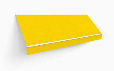 500 x 350 Kassettenmarkise Markise gelb UNI mit Funkmotor Gestell anthrazit – Bild 2