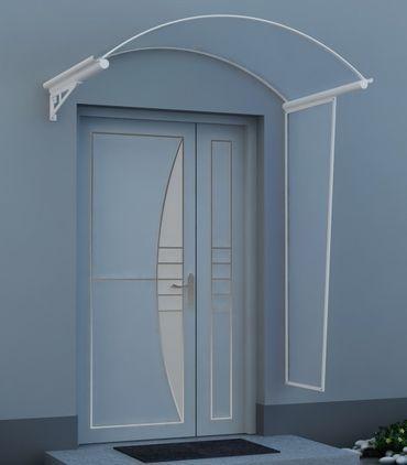 Vordach Überdachung Haustürdach Türdach ANGEL 1,70 x 1,20m mit Seitenschutz – Bild 3