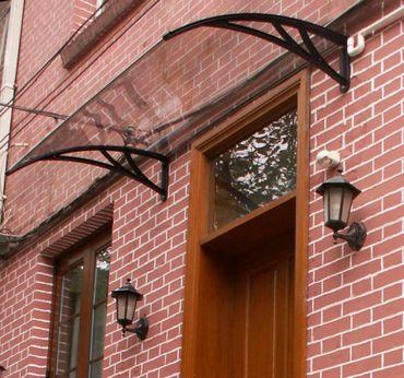 Vordach Überdachung Haustürdach Türdach 1,4 x 1,2 m – Bild 1