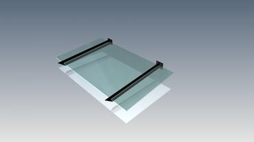 Vordach Träger Haustürdach Türdach Pulverbeschichtet Glas VDTS – Bild 2