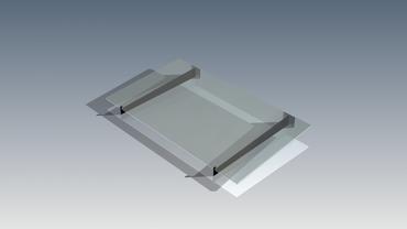 Vordach Träger Haustürdach Türdach Pulverbeschichtet Glas Pultdach VDTA – Bild 6