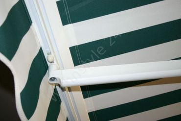 250 x 200 Hülsenmarkise Markise grün mit Handkurbel – Bild 5
