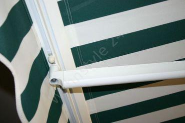 500 x 300 Hülsenmarkise Markise grün mit Handkurbel – Bild 6
