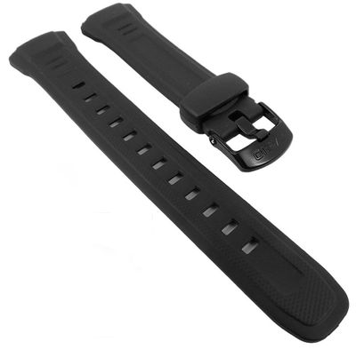 Casio Uhrenarmband 18mm | Resin schwarz WV-58, WV-58E, WV-58J, WV-M60