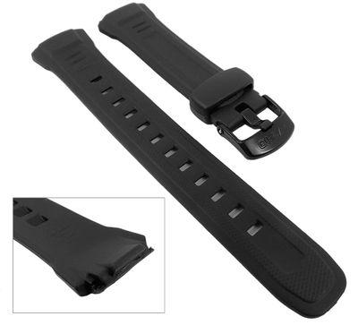 Casio Uhrenarmband 18mm | Resin schwarz WV-58, WV-58E, WV-58J, WV-M60 – Bild 2