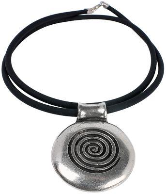 Minott Damen Halskette Kautschuk Band mit Anhänger im Used Loook 50cm – Bild 1