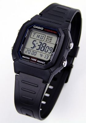 Casio Collection Herrenuhr Multialarm Digitaluhr schwarz W-800H-1AVES – Bild 2