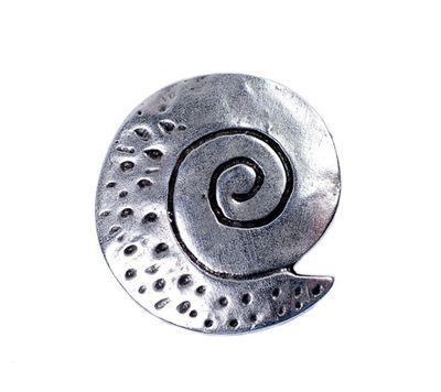 Minott Anhänger Muschel  im Antik Design versilbert 13462 – Bild 1