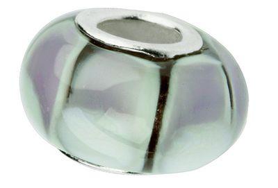 Charlot Borgen Marken Damen Bead Beads Drops Kristallglas Silberkern GPS-47Violett