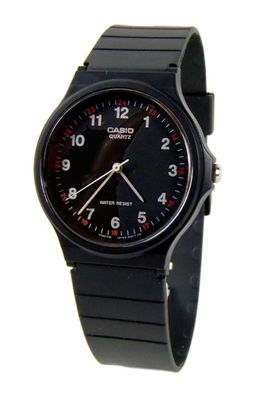 Casio Collection Armbanduhr Analoguhr Resinband Schwarz MQ-24-1BLLGF – Bild 1