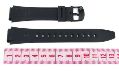 Casio Collection Uhrenarmband 18mm | Resin schwarz | AW-80 | AW-82 – Bild 3