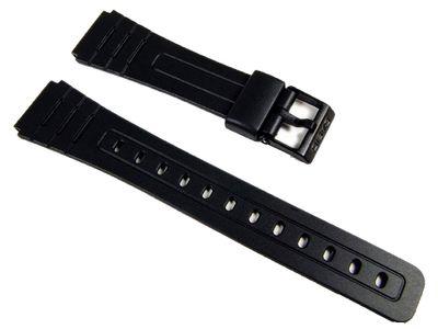 Casio Ersatzband Resin schwarz 18mm | F-105W F-91W F-94 – Bild 1