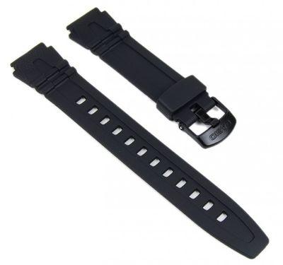 Casio Ersatzband Uhrenarmband 18mm Resin schwarz HDD-600 HDD-600G – Bild 1