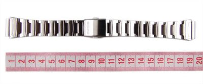 Casio Ersatzband Uhrenarmband Edelstahl 18mm W-211 W-211D-1AVEF – Bild 4