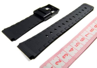Casio Ersatzband Uhrenarmband Resin schwarz 22mm DBC-62-* – Bild 2