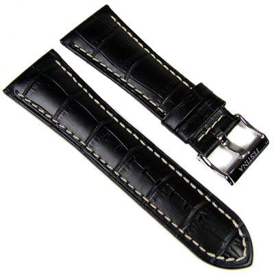 Festina Uhrenarmband 28mm | Leder schwarz/weiß F16235/6