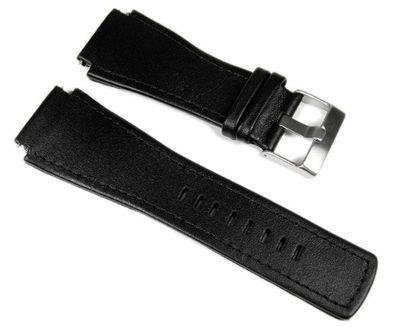 Junghans Mega 1000 Uhrenarmband Leder schwarz 026/4510.00 026/4511.00