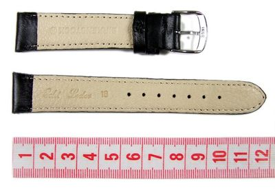 Birkenstock Uhrenarmband schwarz Kalbsleder 18mm 660118S – Bild 2