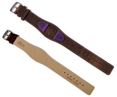 Ersatzband Leder mehrfarbig 16mm für s.Oliver SO-1739-LQ – Bild 2