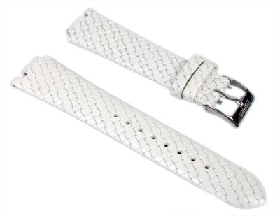 Esprit Uhrenarmband Leder in Flecht-Optik weiß ES103402002