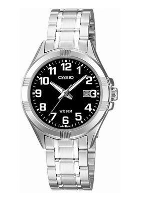 Casio Collection Damenuhr Analoguhr Messing / Edelstahl Silberfarben LTP-1308PD-1BVEF