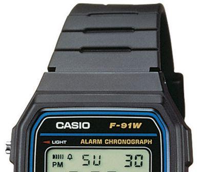 Casio Collection F-91W-1YEF | Kinderuhr Digital Armbanduhr Tagesalarm – Bild 4