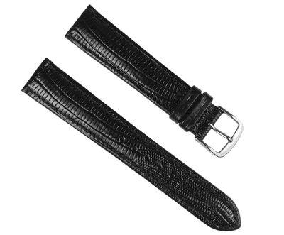 Uhrenarmband Leder schwarz Teju-Print Eulit 18mm 17576S