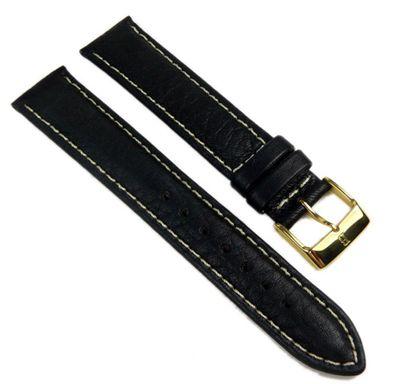 Minott Ersatzband Uhrenarmband Leder Wasserbüffel schwarz 18mm 17585G
