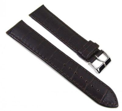 Kroko-Print Ersatzband Uhrenarmband Leder dunkelbraun 22mm XL 17800S