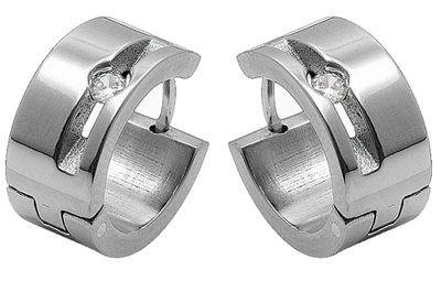 Damen Ohrschmuck Ohrringe Minott Creolen aus Titan mit Zirkonia 17840 – Bild 1
