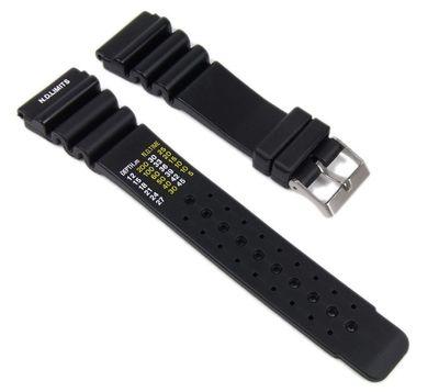 Minott Uhrenarmband 24mm | Taucherband Kunststoff schwarz 17902S – Bild 1