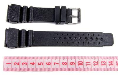 Minott Uhrenarmband 24mm | Taucherband Kunststoff schwarz 17902S – Bild 2