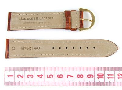 Maurice Lacroix Uhrenarmband 20mm | Leder Louisiana Optik Braun 18049G – Bild 2