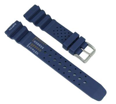 Minott Taucherband Ersatzband Diver 20mm blau passend für AJ9230-08EE, NY0040-09EE und NY0040-17LE