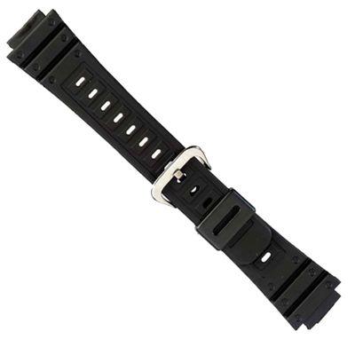 Kautschuk Ersatzband Uhrenband Wasserfest schwarz 18mm 18089