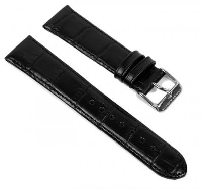 Abeler & Söhne Ersatzband Uhrenarmband Leder Band 20mm schwarz AS72316361