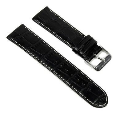 Abeler & Söhne Ersatzband Uhrenarmband Leder Band 22mm schwarz AS72317759 – Bild 1