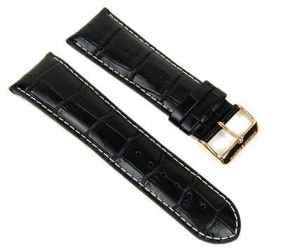 Abeler & Söhne Ersatzband Uhrenarmband Leder Band 27mm schwarz AS72315316 – Bild 1
