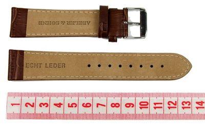Abeler & Söhne Ersatzband Uhrenarmband Leder Band 22mm Braun AS72320816 – Bild 2
