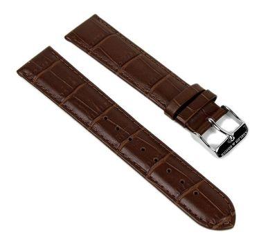 Abeler & Söhne Ersatzband Uhrenarmband Leder Band 20mm Braun AS72320667 – Bild 1