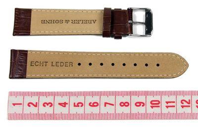 Abeler & Söhne Ersatzband Uhrenarmband Leder Band 20mm Braun AS72320667 – Bild 2