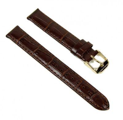 Abeler & Söhne Ersatzband Uhrenarmband Leder Band 14mm Braun AS72320252 – Bild 1