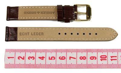 Abeler & Söhne Ersatzband Uhrenarmband Leder Band 14mm Braun AS72320252 – Bild 2