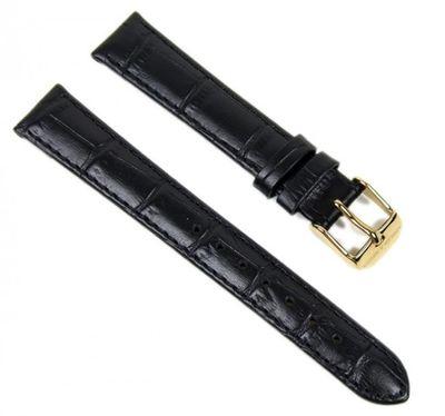 Abeler & Söhne Uhrenarmband 16mm | Leder schwarz/Gold AS72333276 – Bild 1