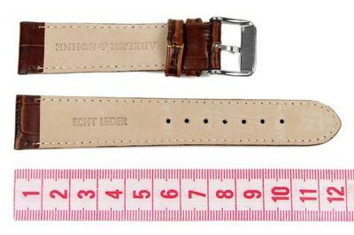 Abeler & Söhne Ersatzband Uhrenarmband Leder Band 20mm Braun AS72316735 – Bild 2