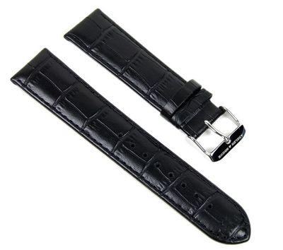 Abeler & Söhne Ersatzband Uhrenarmband Leder Band 22mm schwarz AS72333245 – Bild 1