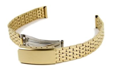 Uhrenarmband Edelstahl Band gelbgoldfarben 12mm Minott 18297 – Bild 1