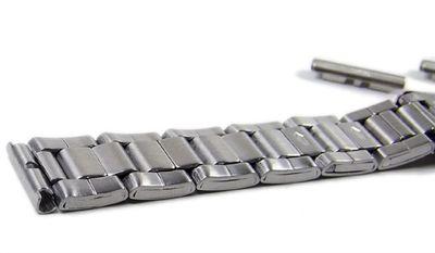 Edelstahl Ersatzband Uhrenarmband Band 14mm - 16mm 18301S – Bild 2