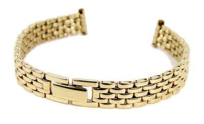 Minott Ersatzband Uhrenarmband Edelstahl Band IP Gelbgold 10mm - 12mm – Bild 1